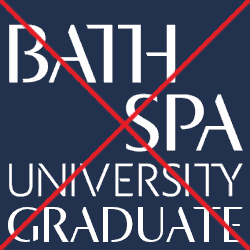 Bath Spa University logo illegal additional wording version